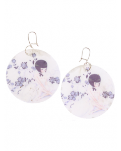 Mother of Pearl Kidney Earrings