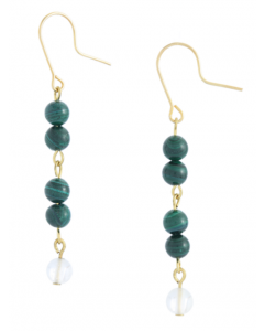 Malachite Hook Earrings