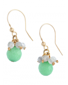 Green Jade Hook Earrings