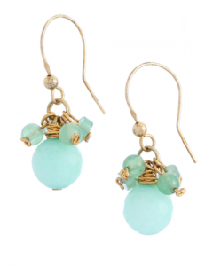 Turquoise Jade Hook Earrings