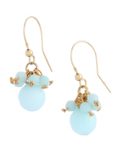 Blue Jade Hook Earrings