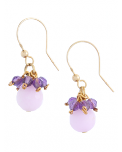 Lavender Jade Hook Earrings