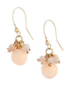 Peach Jade Hook Earrings