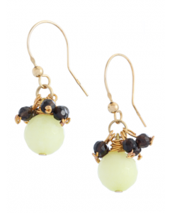 Celadon Jade Hook Earrings