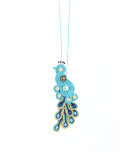 Soutache Peacock Necklace