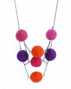 Felt Balls Necklace