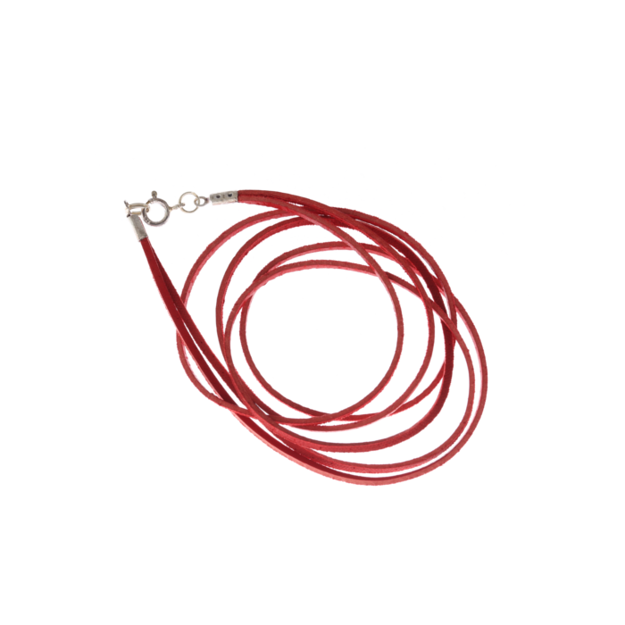 Double Leather Strap Necklace